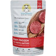Valiant Pet Nutrition Raw Frozen Keto Beef Recipe Sliders Adult Dog Food, 4-lb bag