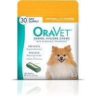 OraVet Dental Hygiene Chews for Dogs, 3.5 - 9 lbs, 30 count