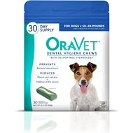 OraVet Dental Hygiene Chews for Dogs, 10 - 24 lbs, 30 count