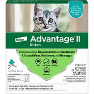 Advantage II Flea Treatment for Kittens 2-5 lbs, 2 treatments