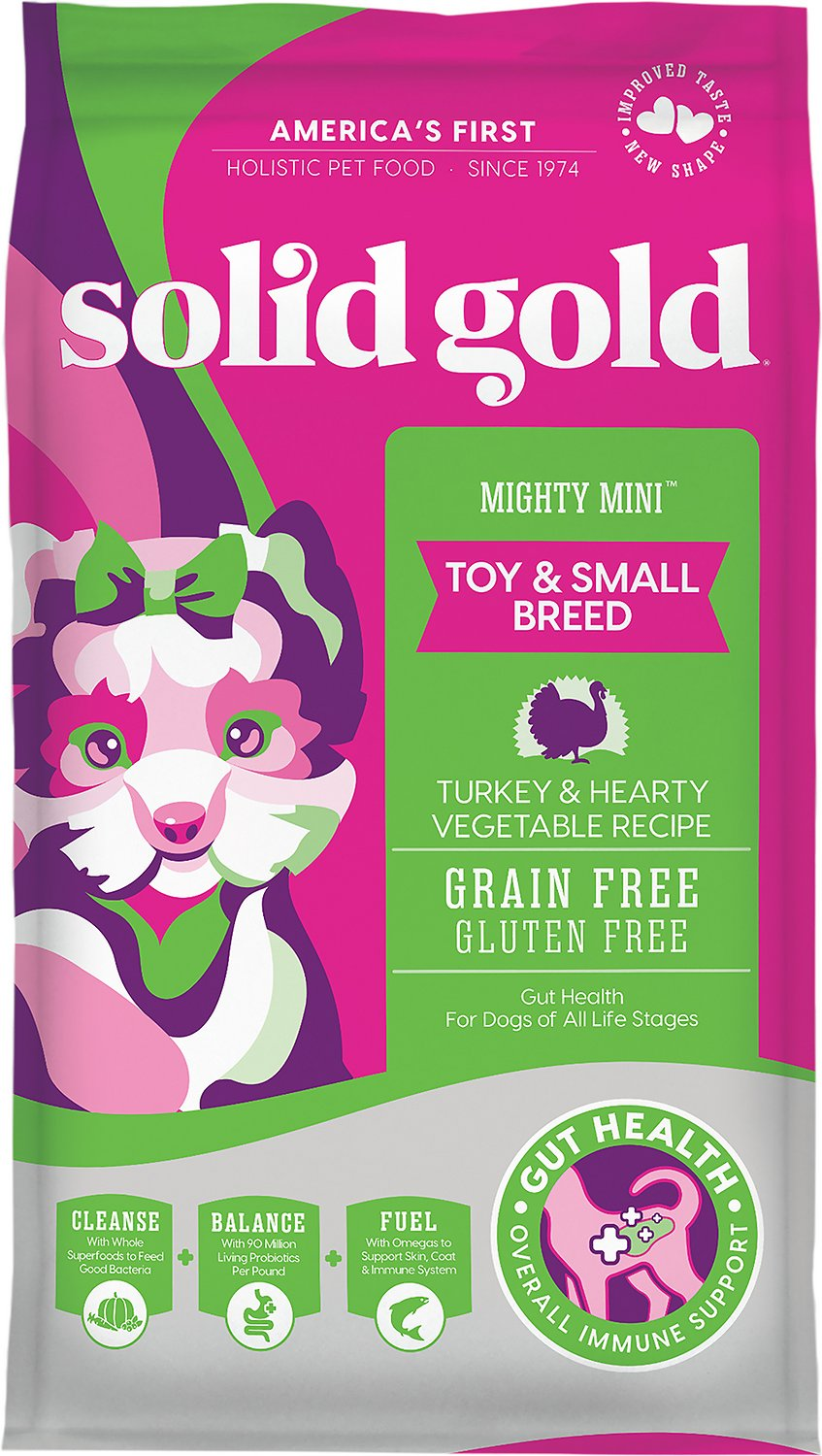 Solid Gold Mighty Mini Turkey & Hearty Vegetable Recipe Grain-Free Dry Dog  Food, 11-lb bag