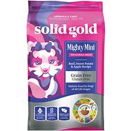 Solid Gold Mighty Mini Beef, Sweet Potato & Apple Recipe Grain-Free Small & Toy Breed Dry Dog Food, 4-lb bag