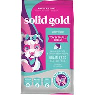 Solid Gold Mighty Mini Toy & Small Breed Gut Health Salmon, Lentil & Green Bean Recipe Grain-Free Adult Dry Dog Food, 11-lb bag
