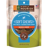 Simply Nourish Soft Chews Bacon & Cheese Dog Treats, 6-oz bag (original)