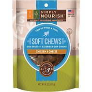 Simply Nourish Soft Chews Chicken & Cheese Dog Treats, 6-oz bag