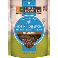 Simply Nourish Soft Chews Peanut Butter Dog Treats, 6-oz bag