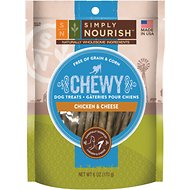 Simply Nourish Chewy Chicken & Cheese Sticks Dog Treats, 6-oz bag