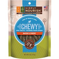 Simply Nourish Chewy Bacon & Cheese Sticks Dog Treats, 6-oz bag