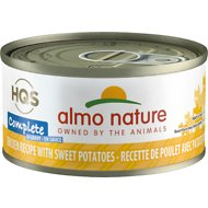 Almo Nature Complete Chicken with Sweet Potatoes Grain-Free Canned Cat Food, 2.47-oz, case of 12