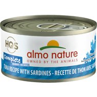 Almo Nature Complete Tuna with Sardine Grain-Free Canned Cat Food, 2.47-oz, case of 12