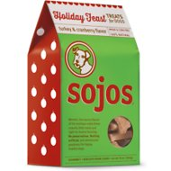Sojos Turkey & Cranberry Holiday Feast Baked  Dog Treats, 10-oz bag
