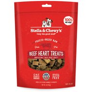 Stella & Chewy's Beef Heart Freeze-Dried Raw Dog Treats