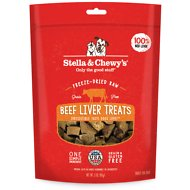 Stella & Chewy's Beef Liver Freeze-Dried Raw Dog Treats, 3-oz bag