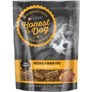 Honest To Dog Tasty Tenders Turkey & Chicken Recipe Natural + Grain-Free Dog Treats, 16-oz bag
