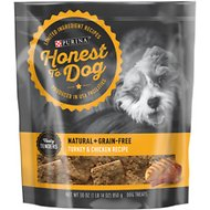 Honest To Dog Tasty Tenders Turkey & Chicken Recipe Natural + Grain-Free Dog Treats, 30-oz bag
