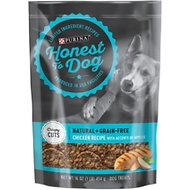Honest To Dog Natural + Grain-Free Dog Treats, Tasty Crispy Cuts Chicken & Apples Recipe, 16-oz pouch
