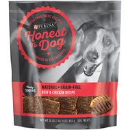 Honest To Dog Tasty Tenders Beef & Chicken Recipe Natural + Grain-Free Dog Treats, 30-oz bag