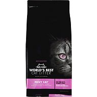World's Best Picky Cat Advanced Multiple Cat Clumping Cat Litter, 24-lb bag