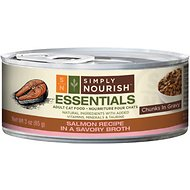 Simply Nourish Essentials Salmon Recipe Adult Chunks in Gravy Canned Cat Food, 3-oz, case of 24 (original)