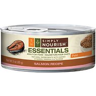 Simply Nourish Essentials Salmon Recipe Adult Pate Canned Cat Food, 3-oz, case of 24