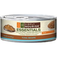Simply Nourish Essentials Tuna Recipe Adult Pate Canned Cat Food, 3-oz, case of 24 (original)