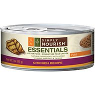 Simply Nourish Essentials Chicken Recipe Kitten Pate Canned Cat Food, 3-oz, case of 24