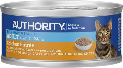 5. Authority Adult Pate Canned Cat Food
