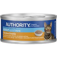 Authority Chicken Entree Adult Pate Canned Cat Food, 5.5-oz, case of 24