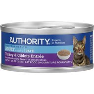 Authority Turkey & Giblets Entree Adult Pate Canned Cat Food, 5.5-oz, case of 24