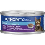 Authority Turkey Entree in Gravy Adult Flaked Canned Cat Food, 5.5-oz, case of 24