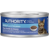 Authority Tuna Entree in Gravy Adult Flaked Canned Cat Food, 5.5-oz, case of 24