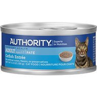 Authority Catfish Entree Adult Pate Canned Cat Food, 5.5-oz, case of 24