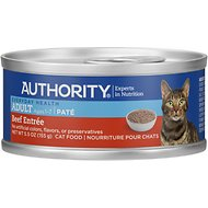 Authority Beef Entree Adult Pate Canned Cat Food, 5.5-oz, case of 24