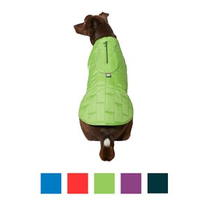 Kurgo Loft Reversible Insulated Dog Quilted Coat, Forest Green, X-Large