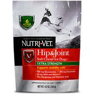 Nutri-Vet Hip & Joint Extra Strength Soft Chews Dog Supplement, 4.2-oz