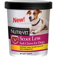 Nutri-Vet Scoot Less Soft Chews Dog Supplement, 60 count