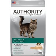 Authority Hairball Control Chicken & Rice Formula Adult Dry Cat Food, 7-lb bag