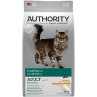 Authority Hairball Control Chicken & Rice Formula Adult Dry Cat Food, 16-lb bag