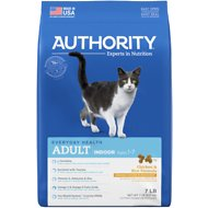 Authority Indoor Chicken & Rice Formula Adult Dry Cat Food, 7-lb bag