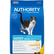 Authority Indoor Chicken & Rice Formula Adult Dry Cat Food, 23-lb bag