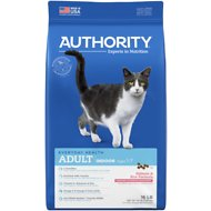 Authority Indoor Salmon & Rice Formula Adult Dry Cat Food, 16-lb bag