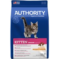 Authority Indoor Chicken & Rice Formula Kitten Dry Cat Food, 3.5-lb bag