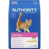 Authority Chicken & Rice Formula Kitten Dry Cat Food, 7-lb bag