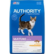 Authority Chicken & Rice Formula Mature Dry Cat Food, 7-lb bag