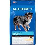 Authority Chicken & Pea Formula Grain-Free Adult Dry Dog Food, 15-lb bag