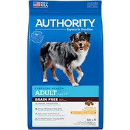 Authority Chicken & Pea Formula Grain-Free Adult Dry Dog Food, 30-lb bag