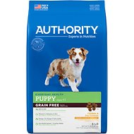 Authority Chicken & Pea Formula Grain-Free Puppy Dry Dog Food, 5-lb bag
