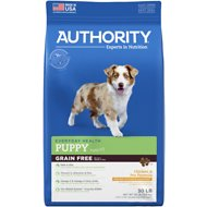 Authority Chicken & Pea Formula Grain-Free Puppy Dry Dog Food, 30-lb bag