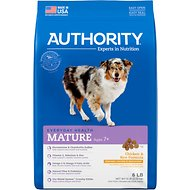 Authority Chicken & Rice Formula Senior Dry Dog Food, 6-lb bag