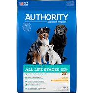 Authority Small Bites Chicken & Rice Formula Dry Dog Food, 34-lb bag
